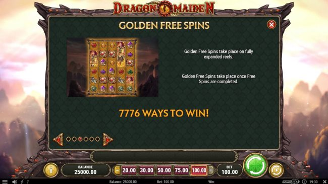 Cbet featuring the Video Slots Dragon Maiden with a maximum payout of $500,000
