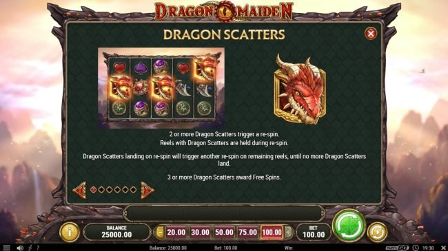 Casino Luck featuring the Video Slots Dragon Maiden with a maximum payout of $500,000