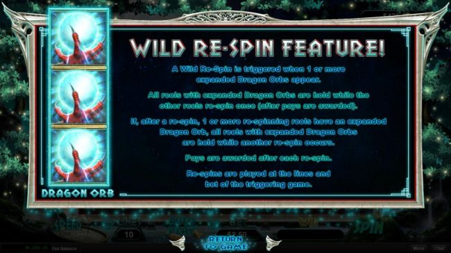 Wild Re-Spin Feature Rules