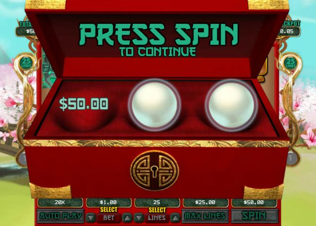 Pure Vegas featuring the Video Slots Dragon Princess with a maximum payout of $7,500