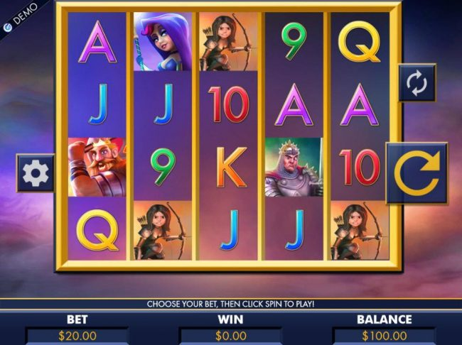 All Jackpots featuring the Video Slots Dragon Slayers with a maximum payout of $8,000