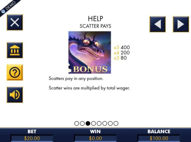 Royal House featuring the Video Slots Dragon Slayers with a maximum payout of $8,000