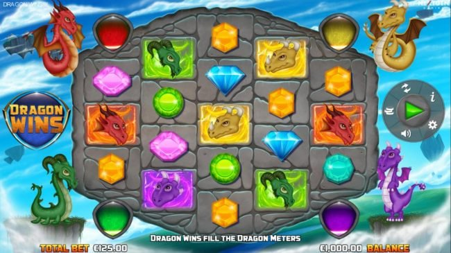 Chomp featuring the Video Slots Dragon Wins with a maximum payout of $10,000