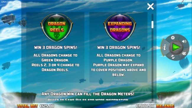 Dragon Reels and Expanding Dragons Feature Rules