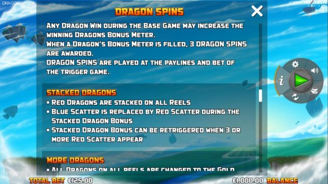 Euro King featuring the Video Slots Dragon Wins with a maximum payout of $10,000