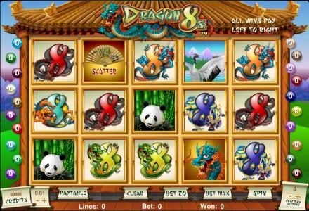 Play slots at Casino Superlines: Casino Superlines featuring the Video Slots Dragon 8s with a maximum payout of $12,500