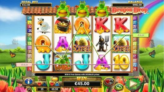 Play slots at Napoli: Napoli featuring the Video Slots Dragon Drop with a maximum payout of $10,000