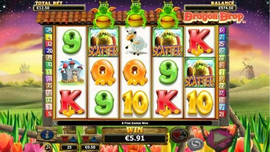 Noxwin featuring the Video Slots Dragon Drop with a maximum payout of $10,000