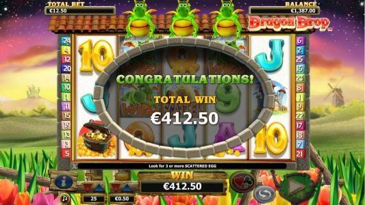 Play slots at TS: TS featuring the Video Slots Dragon Drop with a maximum payout of $10,000