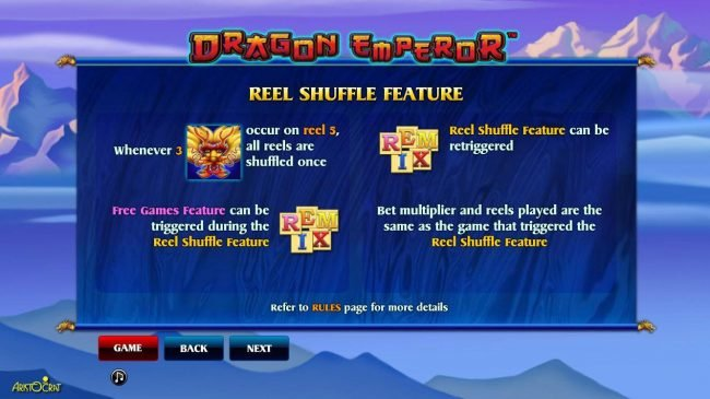 Reel Shuffle Feature Rules.