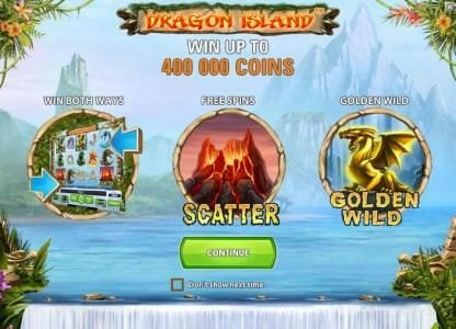 Play slots at Touch Lucky: Touch Lucky featuring the Video Slots Dragon Island with a maximum payout of $100,000