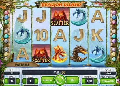 TheBesCasino featuring the Video Slots Dragon Island with a maximum payout of $100,000