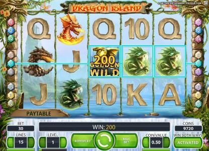 Spinzilla featuring the Video Slots Dragon Island with a maximum payout of $100,000