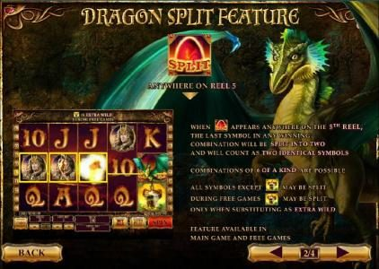 dragon split feature rules and how to play