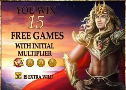 15 free games awarded with 2x multiplier