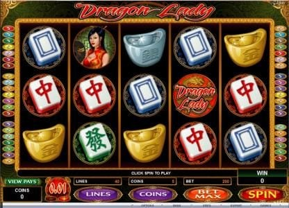 Play slots at Nostalgia Casino: Nostalgia Casino featuring the Video Slots Dragon lady with a maximum payout of $25,000