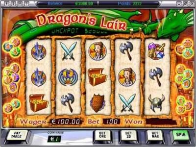Play slots at Video Poker Classic: Video Poker Classic featuring the Video Slots Dragon Lair with a maximum payout of $50,000