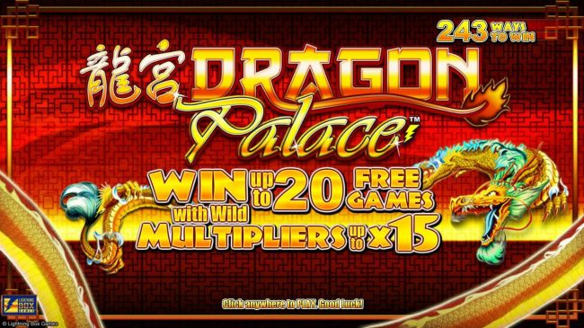 Dragon Palace :: Win up to 20 Free Games with wild multipliers up to x15
