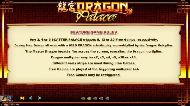 TS featuring the Video Slots Dragon Palace with a maximum payout of $4,000