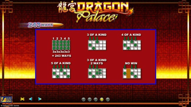333 Palace featuring the Video Slots Dragon Palace with a maximum payout of $4,000