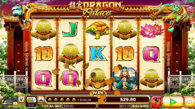 VIP Casino featuring the Video Slots Dragon Palace with a maximum payout of $4,000