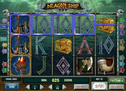 Play slots at House of Jack: House of Jack featuring the Video Slots Dragon Ship with a maximum payout of $625