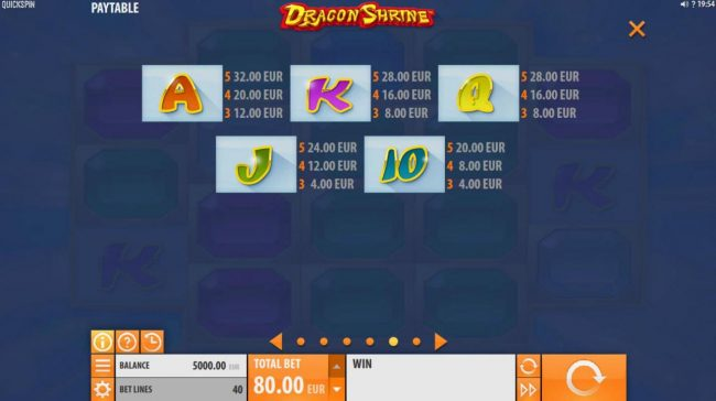 Spinrider featuring the Video Slots Dragon Shrine with a maximum payout of $174,200