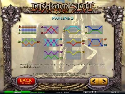 Amsterdam Casino featuring the Video Slots Dragon Slot with a maximum payout of $25,000