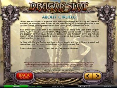 Dragon Slot :: About Ciruelo
