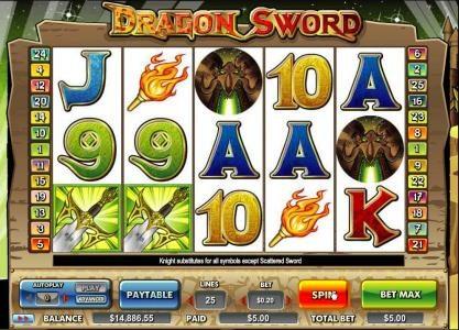 sword symbols trigger scatter award