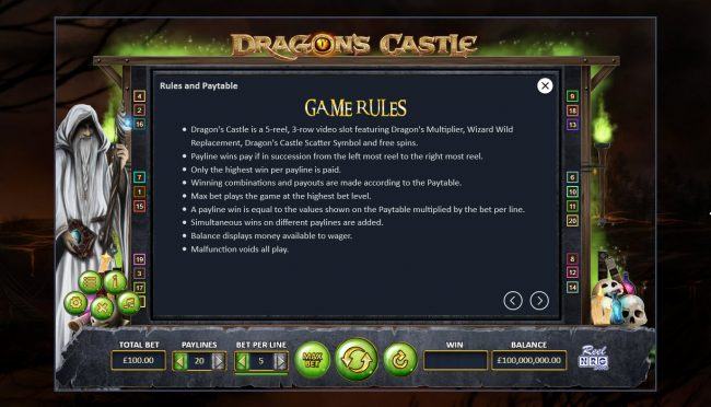 Dragon's Castle :: General Game Rules