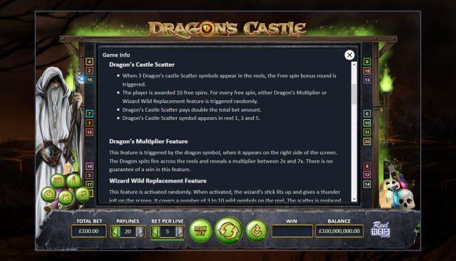 Dragon's Castle :: Feature Rules