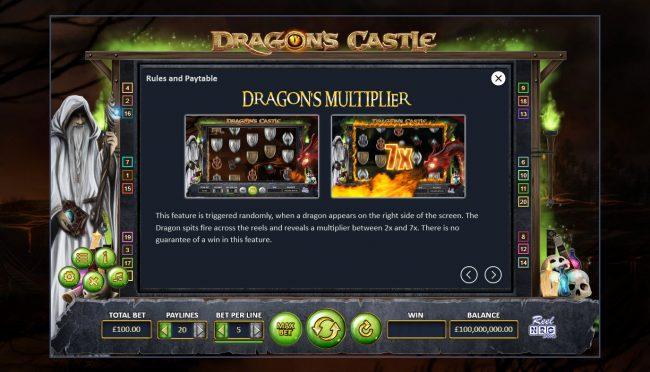 Dragon's Castle :: Multiplier Rules