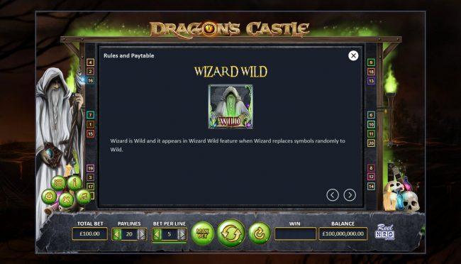 Dragon's Castle :: Wild Symbol Rules
