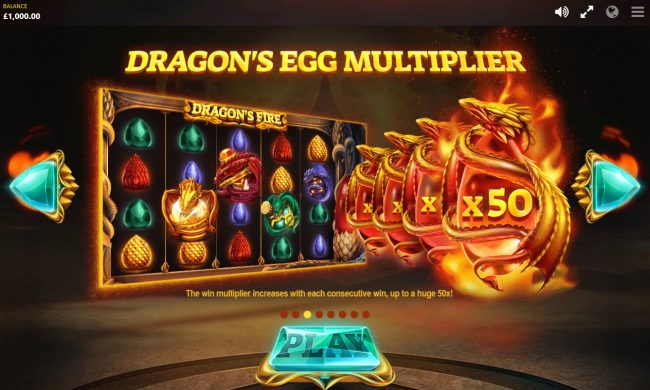 Genesis Casino featuring the Video Slots Dragon's Fire with a maximum payout of $100,000