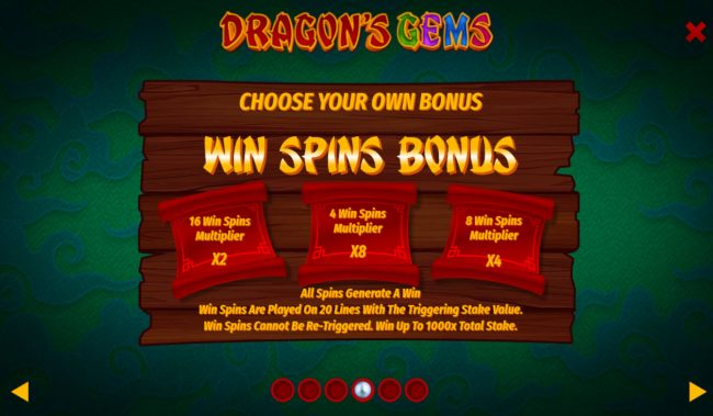Dragon's Gems :: Free Spins Rules
