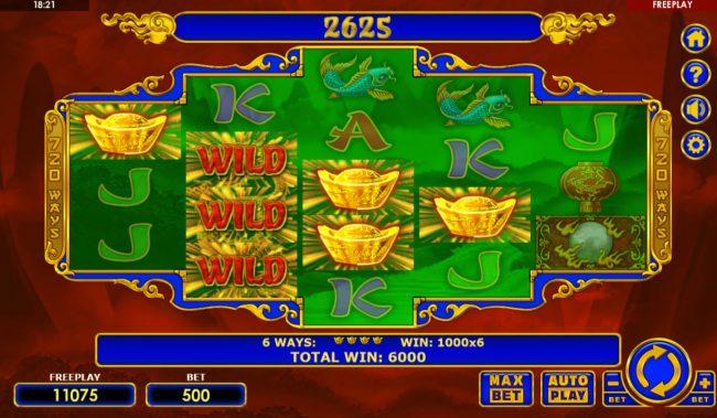 Dragon's Gift :: Multiple winning combinations