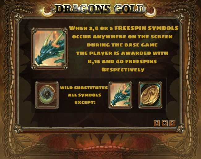 Venetian featuring the Video Slots Dragons Gold with a maximum payout of $30,000