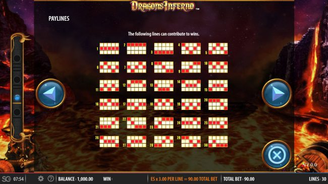 Golden Riviera featuring the Video Slots Dragon's Inferno with a maximum payout of $250,000