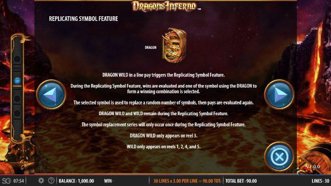 Dragon's Inferno :: Wild Symbol Rules