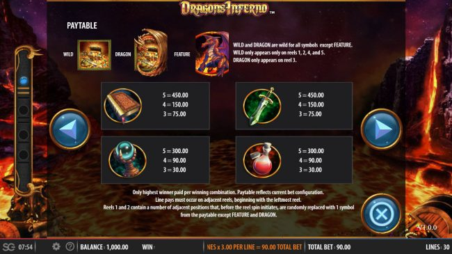 Dragon's Inferno :: Medium Value Symbols