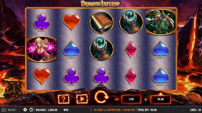 Dragon's Inferno :: Main Game Board