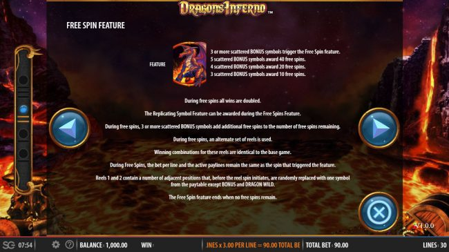 Dragon's Inferno :: Scatter Symbol Rules