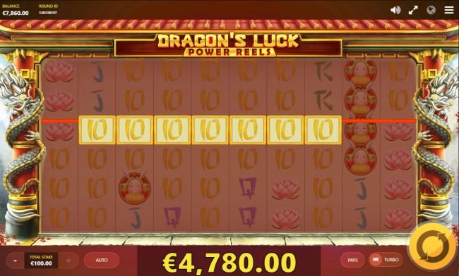 Clover Casino featuring the Video Slots Dragon's Luck Power Reels with a maximum payout of $77,760