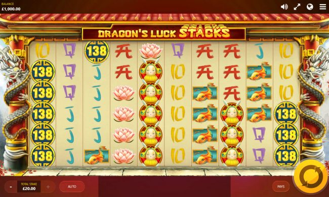 Shadowbet featuring the Video Slots Dragon's Luck Stacks with a maximum payout of $77,760