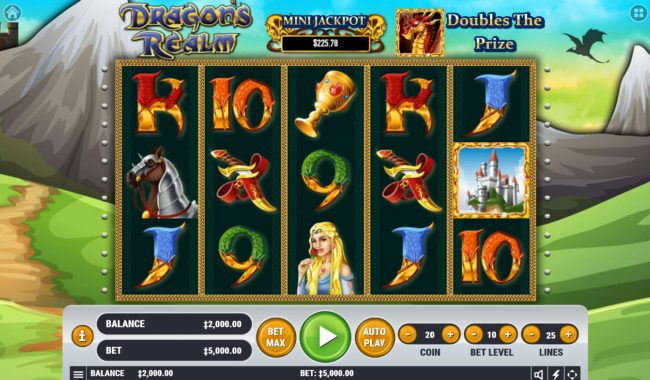 Play slots at Win Paradise: Win Paradise featuring the Video Slots Dragon's Realm with a maximum payout of $4,000,000