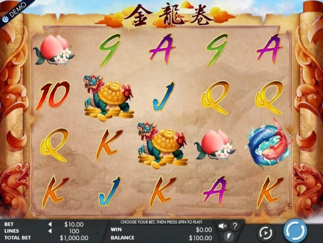 NetBet featuring the Video Slots Dragon's Scroll with a maximum payout of $100,000