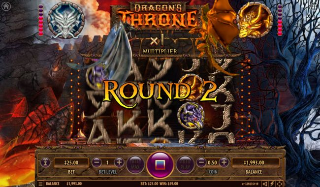 TheBesCasino featuring the Video Slots Dragon's Throne with a maximum payout of $25,000