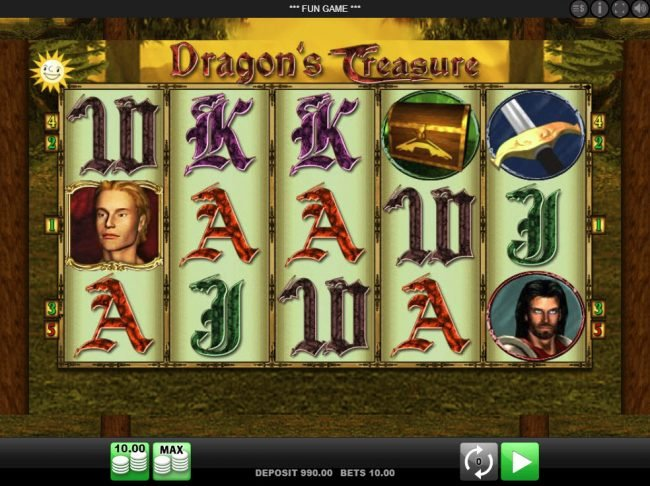 Play slots at Mr Green: Mr Green featuring the Video Slots Dragon's Treasure with a maximum payout of $10,000