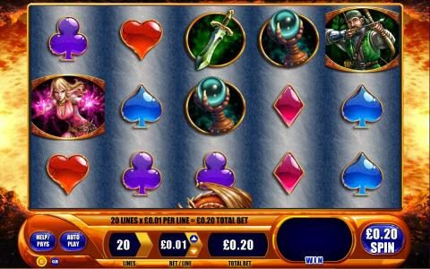 Mega Casino featuring the Video Slots Dragon's Inferno with a maximum payout of $250,000
